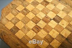 Superbe Victorienne 1860 Rosewood Piédestal Jeux D'échecs Dames Backgammon Table