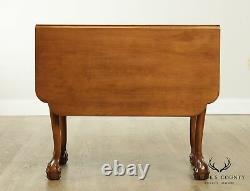 Suters Vintage Chippendale Style Walnut Ball & Claw Drop Leaf Table