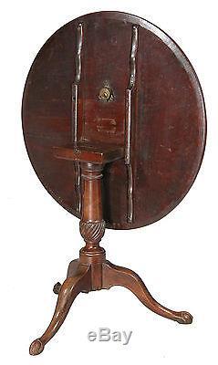 Swc-chippendale, Table Inclinable Avec Pieds En Griffe Et Boule, Newport, C. 1780