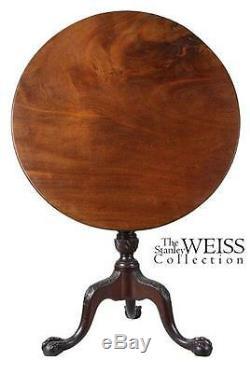 Swc-fine Mahogany Chippendale Table Basculante, Angleterre, V. 1780