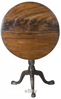 Swc-mahogany Table À Plateau Inclinable Avec Travail Incisé À L'aveugle, Angleterre, C. 1760