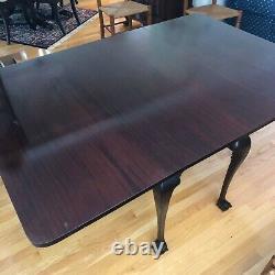 Table À Feuilles En Acajou De Style Chippendale