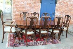Table À Manger En Acajou De Style Antique Anglais Avec 3 Feuilles Et 8 Chaises