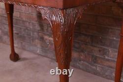 Table À Thé En Acajou Sculptée De Meubles De Boulangerie Chippendale