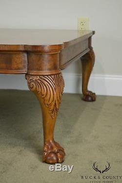 Table Basse Carrée Baker Chippendale Style Noyer Griffe