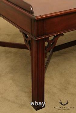 Table Basse Councill Craftsmen Chippendale Style Mahogany Butlers