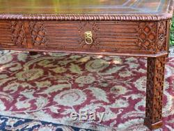 Table Basse En Cuir Acajou Maitland Smith Chinois Des Années 1940