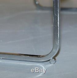 Table Basse Originale En Bois De Rose Et Chrome Howard Miller Ltd, Originale Au Siècle Dernier