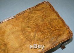 Table Basse Vintage Quarter Burr Coupe Noyer Avec Pattes Cabriolet Griffe & Boule