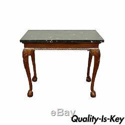 Table Console B Avec Dessus En Marbre Et Chippendale Chippendale Sty Ball Vintage En Acajou