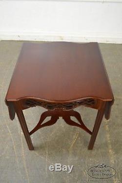 Table D'appoint À Abattant En Acajou Chippendale Collection Baker Historic Charleston