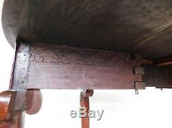 Table D'appoint Goutte Antique Chippendale 18ème Siècle, Acajou Et Pieds Griffes