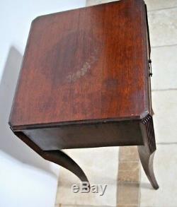 Table D'appoint Vintage À 1 Tiroir Chippendale Vintage En Acajou Hepplewhite