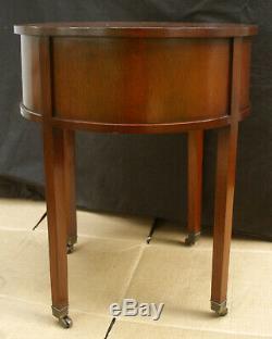 Table De Bout À Côté En Bois En Bois D'acajou De Columbia Antique Vintage