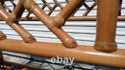 Table De Console Chinoise En Bambou De Canne Au Milieu Du Siècle Vintage
