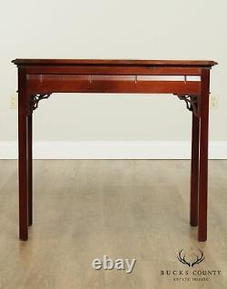 Table De Console De Tiroir Style Chippendale En Acajou