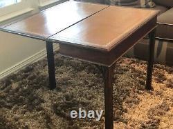 Table De Jeu D'antique George III Ahogany Flip Top