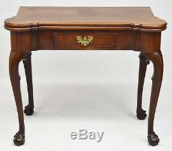 Table De Jeu George III Chippendale En Acajou Et Pied Fin 18ème Siècle Début 19ème