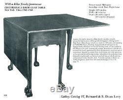 Table De Salle À Manger À 6 Pieds Swc-chippendale, New York, 1760-1780
