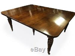Table De Salle À Manger Antique En Noyer De 14,9 Pi 1831-1901