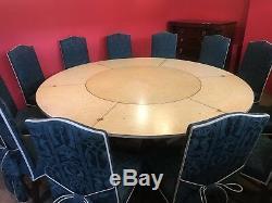Table De Salle À Manger Circulaire De 7,5 Pieds Avec Le Grand Mahogany Jupe, Professionnel Français Poli