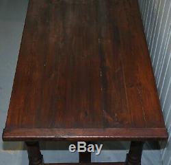 Table De Salle À Manger De La Salle À Manger Réfectoire De La Ferme Anglaise À Planches Vintages Vintage