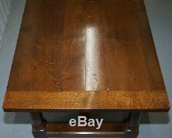 Table De Salle À Manger De Réfectoire Vintage En Chêne Anglais 183cm X 77.5cm X73.5cm Sièges Jusqu'à 8