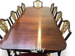 Table De Salle À Manger En Acajou Brésilien De Style George III Pro French Poli