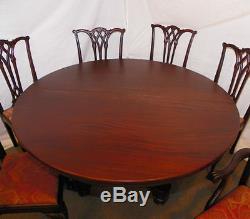 Table De Salle À Manger En Acajou D'époque Assortie, Table Et Buffet, 6 Chaises