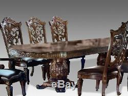 Table Mondiale À Manger Design De Classe Et Des Chaises Faites À L'ordre De 8 Pieds, Plus 20ft