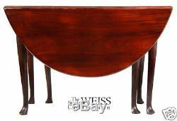 Table Ovale À Motif De Reine Anne Anne Swc-acajou C1760