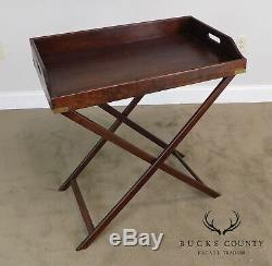 Table Pliante Antique Acajou X Base De Butlers Tray