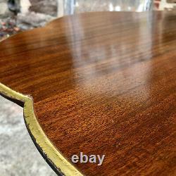 Table Supérieure De Clover D'acajou Sculpté De Chippendale D'anglais Antique
