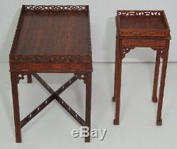 Tables De Chippendale Chinois Miniatures Gerald Crawford Tom Goad Vintage Dollhouse