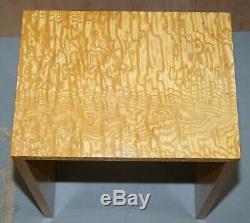 Tables Gigognes Deux Burr Satinwood Vue Partielle Une Grande Suite Comprend Table Basse