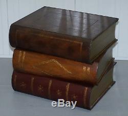 Theodore Alexander Faux Scholars Books Table À Vin Avec Lampe Latérale