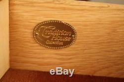 Tradition Maison Cerise Marqueterie Table Console De Style Chippendale Serveur Deux Tiroirs