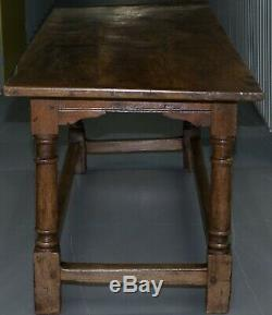 Très Rare Charles I 1630 Chêne Réfectoire Réfectoire Table, Salle Plaish Shropshire