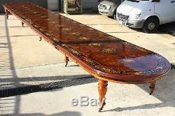 Un Monde Simplement Classe Magnifique Grand 32ft / 10 Mètres Burr Table Noyer