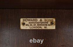 Victorian Antique Howard & Son's Revolving Library Bookcase Side End Wine Table