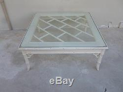 Vintage 70 De Palm Beach Kelly Wearstler Style Chinois Chippendale Table Basse