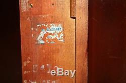 Vintage Acajou Rouge Chippendale Table Console Extensible Salle À Manger Carte 2 Feuilles