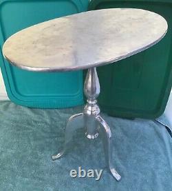 Vintage Aluminum Chippendale Coffee End Table Steampunk Art Moderne Mi-century