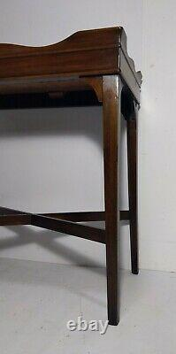 Vintage Antique Ahogany Butler Tea Tray Table Anglais Georgian Chippendale