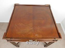 Vintage Baker Chinois Chippendale Table Anglais Style Asiatique