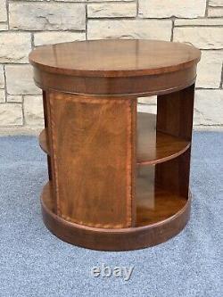 Vintage Baker Furniture Acajou Drum Book Case End Table 24