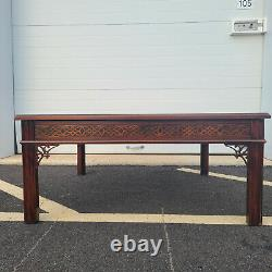 Vintage Baker Furniture Chippendale Flame Mahogany Square Coffee Cocktail Table
