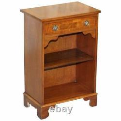 Vintage Bevan Funnell Flamed Mahogany Side Table Cabinet Bibliothèque Tiroir Single