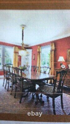 Vintage Chippendale Ahogany Historique Charleston Table À Manger