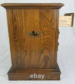 Vintage Chippendale Nightstand End Table 5 Tiroirs Chêne Bois Maison Pennsylvanie